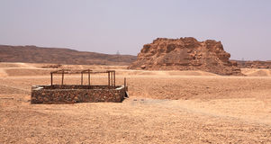 Well in the stone desert Royalty Free Stock Photo
