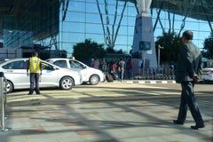 Passenger approaching towards entrance gate - Stock photograph royalty free stock photo