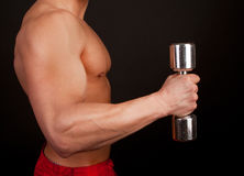 Well-trained body of male Stock Photos