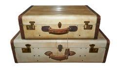Well-traveled vintage suitcase Stock Image