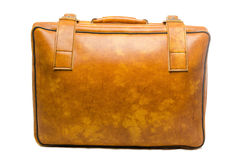 Well -Traveled Vintage Suitcase  ( Luggage ) Royalty Free Stock Images