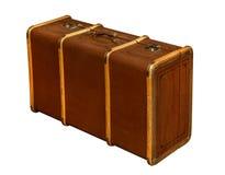 Well-Traveled Vintage Suitcase XXXL Stock Image