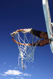 Well used basketball hoop Stock Photography