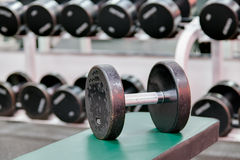 Well used dumbbell weight Royalty Free Stock Photos