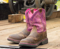 A well used pair of western cowboy boots Royalty Free Stock Photo