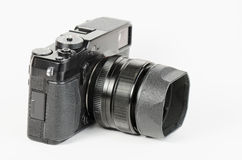 Well used, retro style, viewfinder camera Stock Photography