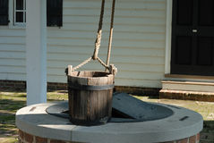 Well water bucket Stock Photo