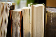Well worn books on shelf Royalty Free Stock Photography