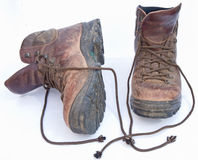Well worn boots. Royalty Free Stock Photography