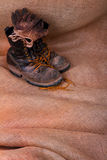 Well Worn Boots Gloves royalty free stock photos