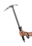 Well worn ice axe, life saving mountaineering tool Stock Image
