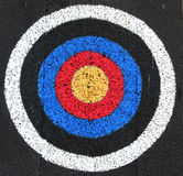 Well worn Target. A Well worn target board at an archery range Royalty Free Stock Photography