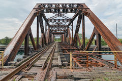 Welland Canal Truss Swing Bridge. No 15 Stock Photo