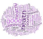 wellbeing för etikett för god hälsa för oklarhet stock illustrationer