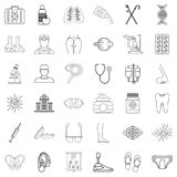 Wellbeing icons set, outline style. Wellbeing icons set. Outline set of 36 wellbeing vector icons for web isolated on white background Royalty Free Stock Images