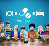 Wellbeing Medical Health Proper Care Concept Stock Image
