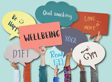 Wellbeing Positivity Mindset Thinking Wellness Concept Stock Photography