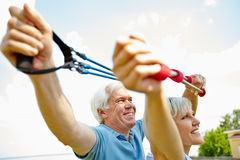 Wellbeing in retirement Royalty Free Stock Photos