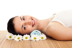 Wellbeing in spa center Stock Photography