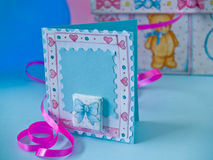 Wellcome baby card stock photos