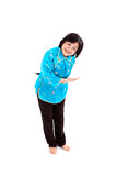 Wellcome, Chinese Woman Royalty Free Stock Image