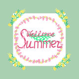 Wellcome summer Royalty Free Stock Photos