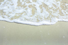 Welle auf dem Sand 1 Lizenzfreies Stockfoto