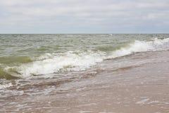 Welle auf Strand Stockfoto