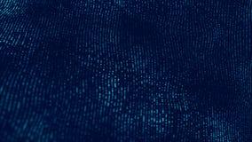 Welle 3d Welle von Partikeln Abstrakter blauer geometrischer Hintergrund Gro?e Datensichtbarmachung Datentechnologiezusammenfassu lizenzfreie abbildung