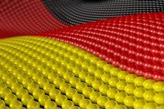 Welle der Kugeln in den Farben von Deutschland Stockbilder