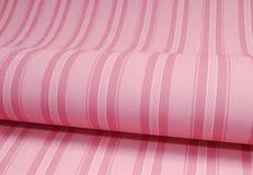 Welle der rosafarbenen Tapete mit Zeilen Stockfotografie