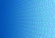 Welle des binären Codes stock abbildung