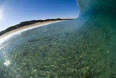 Welle, die Australien einläuft lizenzfreies stockfoto