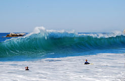 Welle am Hauptstrand, Laguna Beach, Kalifornien Stockfotografie