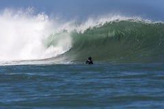 Welle und boadyboarder2 Lizenzfreie Stockfotografie