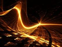 Welle und Gitter - extrahieren Sie digital erzeugtes Bild Lizenzfreie Stockfotos
