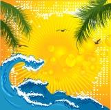Welle und Palme