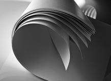 Welle von den Papierseiten Stockfoto