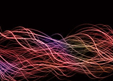 Welle zeichnet Neondurcheinander Stockfotos