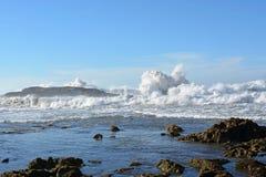 Wellen auf Atlantikküste nahe Essaouira Lizenzfreie Stockfotografie