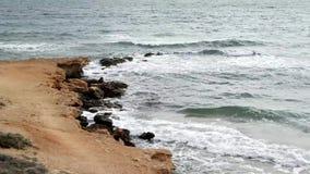 Wellen auf dem Ufer stock video