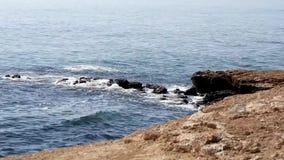 Wellen auf dem Ufer stock footage