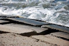 Wellen auf der Nordküste von Ägypten Lizenzfreies Stockbild