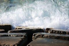Wellen auf der Nordküste von Ägypten Lizenzfreie Stockfotos