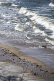Wellen auf der polnischen Küste, Wellen auf der Ostsee Stockbilder