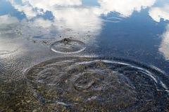Wellen auf einem See Stockfoto