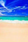Wellen auf tropischem Strand Stockfoto