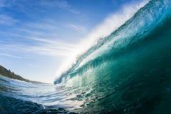 Wellen-Blau nach innen Lizenzfreies Stockbild