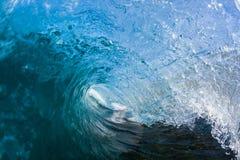Wellen-Blau nach innen Stockbild