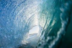 Wellen-Blau nach innen Lizenzfreies Stockfoto